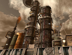 Refinery at Oxymoron, by Wyatt Wellman, cc by-sa 2.0. Flickr.