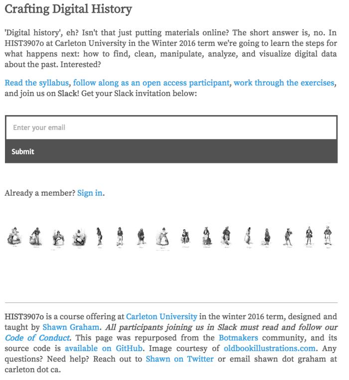 Crafting Digital History….engage!