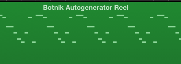 Markov Music; or; the Botnik Autogenerator Reel